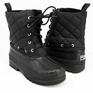 Sperry Top Sider Black Quilted Boots